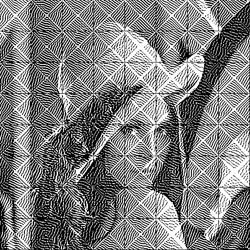 lenna with zebra effect halftone